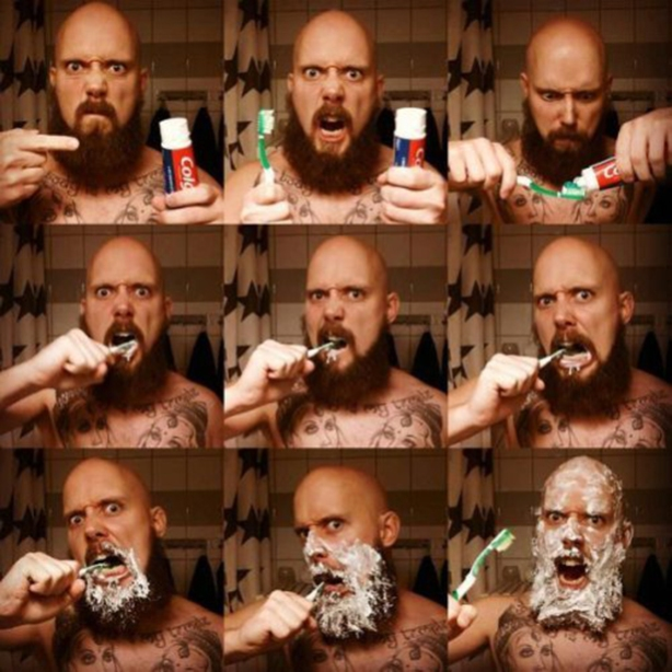 This is how I brush my teeth, too!